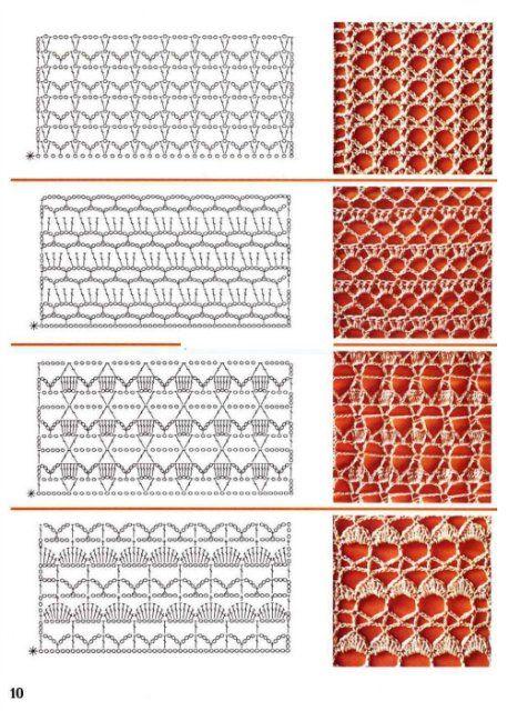 Вязание крючком образец узоров 788
