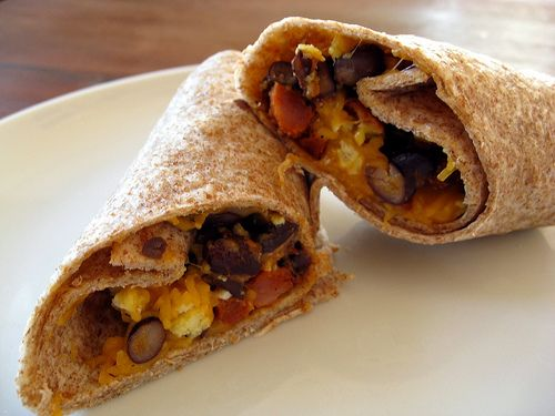 Chorizo and Black Bean Breakfast Burritos