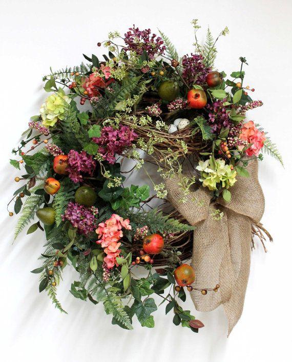 Wreaths for front door front door wreath spring wreath summer