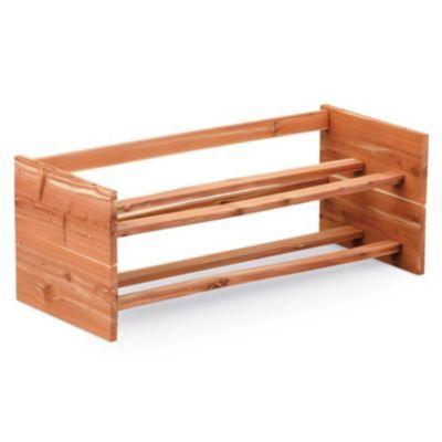 Level Cedar Shoe Rack