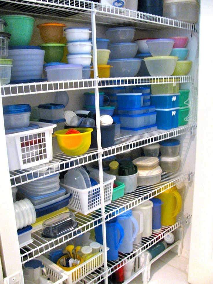 Organizing The Tupperware Storage Closet Organizing