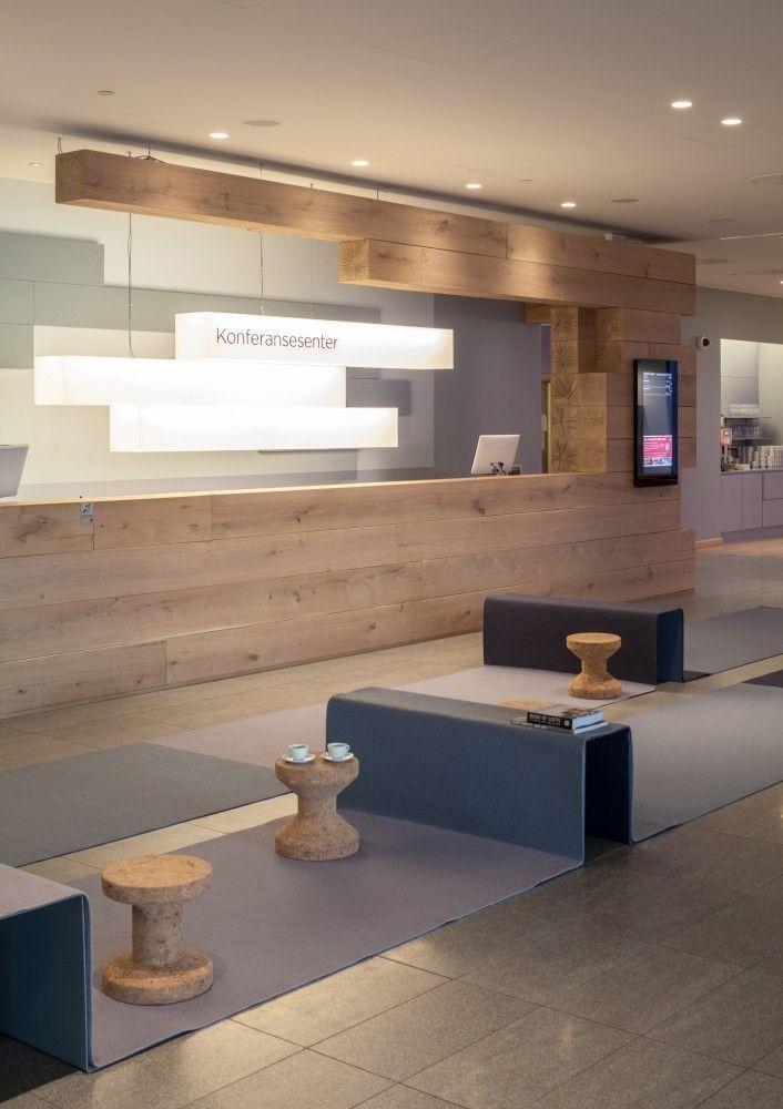 Front desk zova office design pinterest for Front office design interior