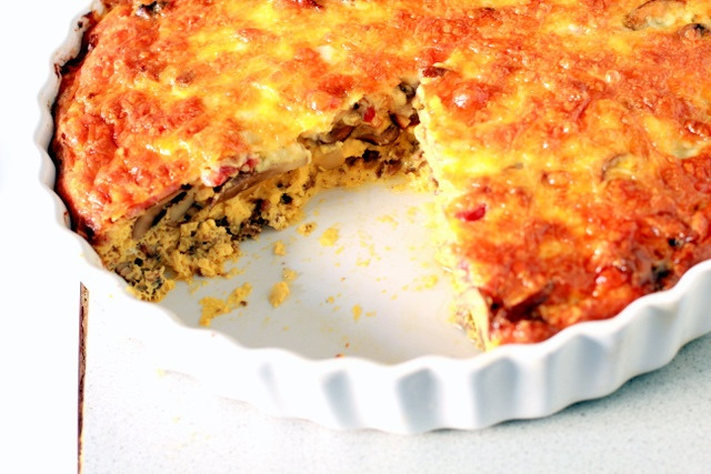 Mama with Flavor: Cheeseburger Bacon and Mushroom Frittata