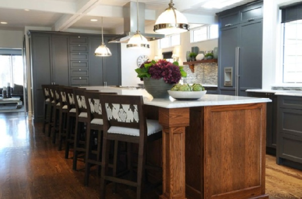 Charcoal gray cabinets  so cool!  Kitchens  Pinterest