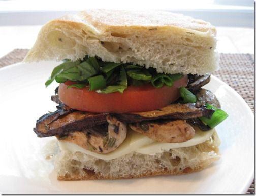 Roasted Chicken & Portobello Focaccia | Yummy in my Tummy | Pinterest