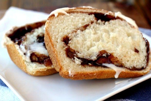 Cinnamon Raisin Swirl Bread. I'd take out the raison. Making me drool ...