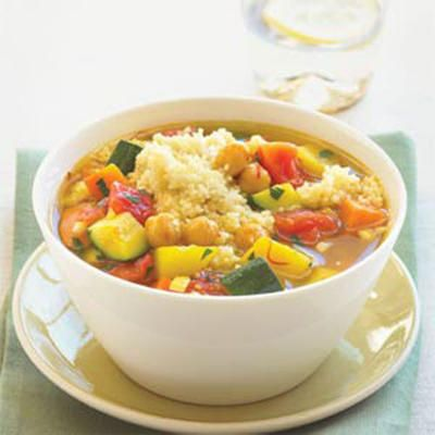 Seven-Vegetable Couscous This recipe gets its wonderful flavor from ...