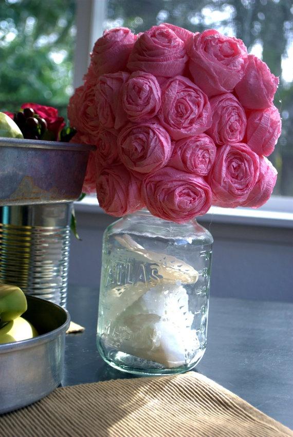 Paper flower centerpiece ideas and centerpieces