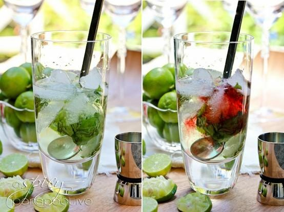 Raspberry Basil Mohito | Favorite Places & Spaces | Pinterest