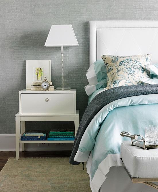 Best Bedroom Aqua Bedding Gray Walls Decorating Projects 400 x 300