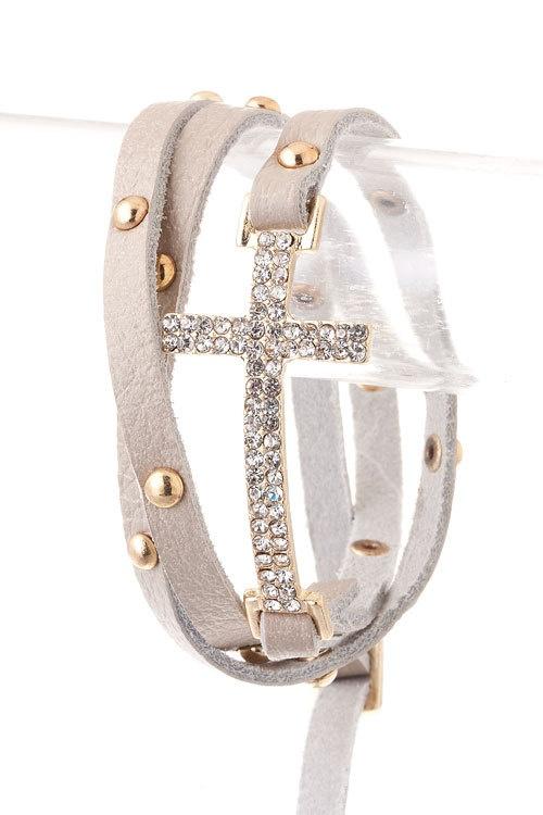 Cross bracelet..,love
