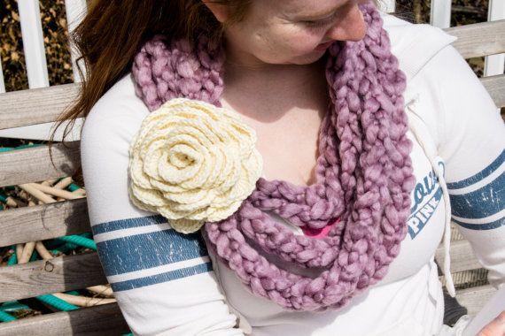 Elegant Cobblestone Cowl Ivory Rose by NotJustLovely on Etsy, $30.00