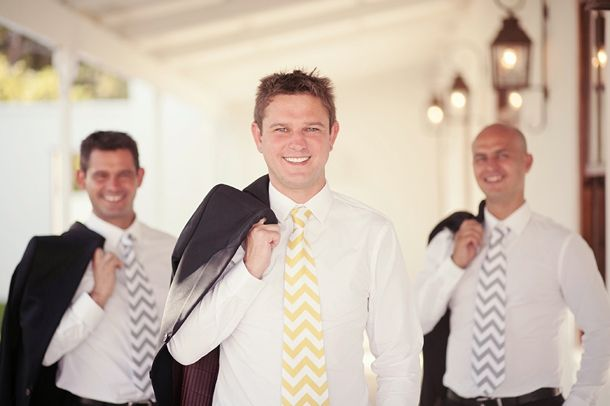 Ties for the groom and groomsmen
