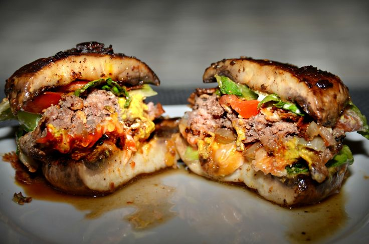 Portabella mushroom burgers. | Flesh | Pinterest
