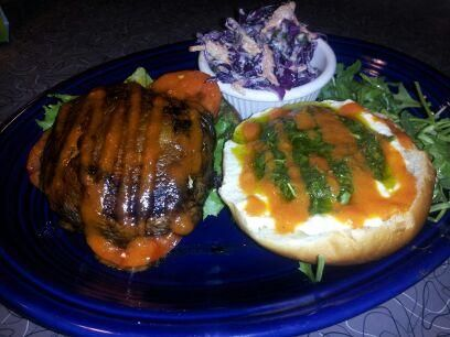 10/30/13 PORTOBELLO BURGER We start with a balsamic & spice-marinated ...