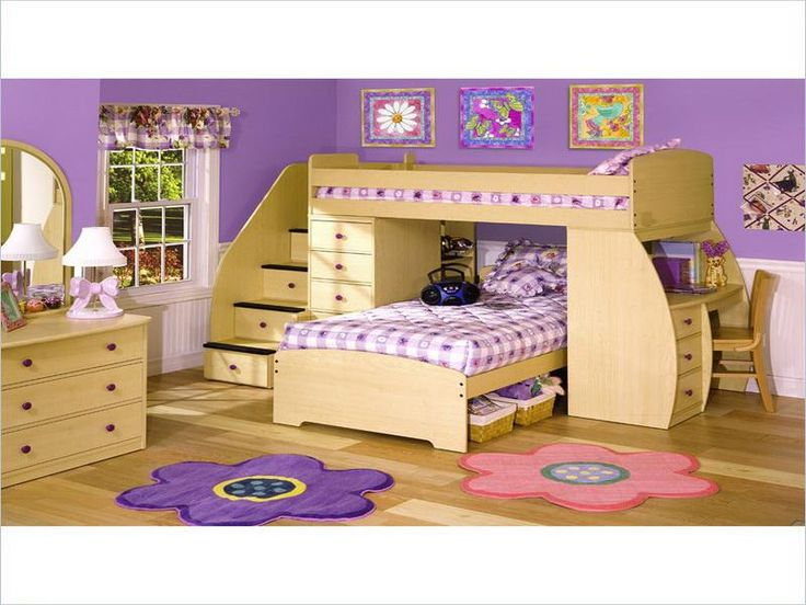 Cute girls bunk bed girl room pinterest for Cute bunk bed rooms