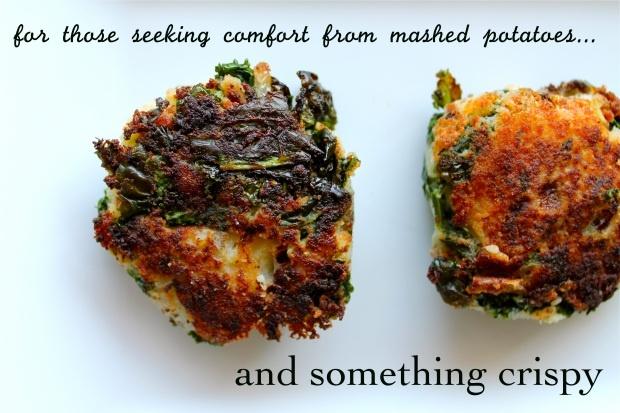 mashed potato and kale cakes   yummy food   Pinterest