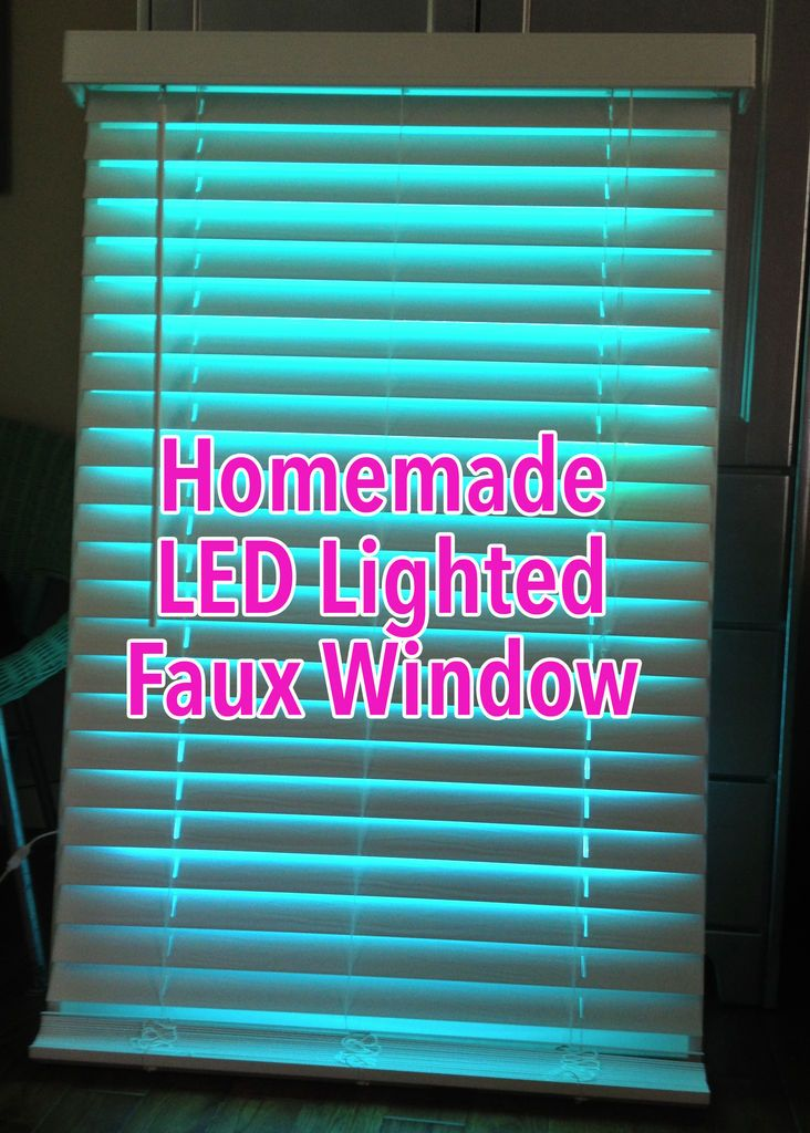Faux led window Fake window for basement