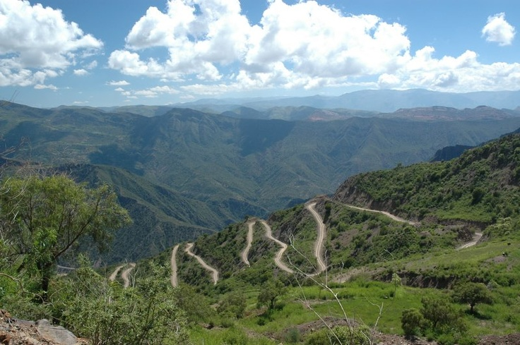 Winding road in the Andes