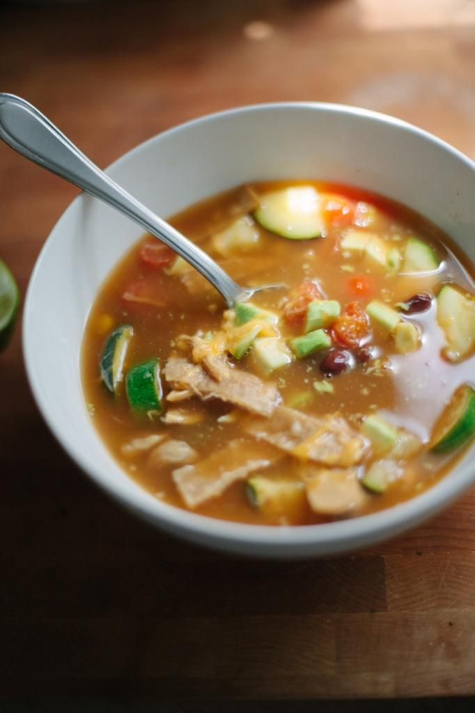 Vegetarian Tortilla Soup | Soups, Stews and Chilis | Pinterest