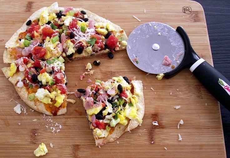 Breakfast Burrito Pizza | Breakfast | Pinterest