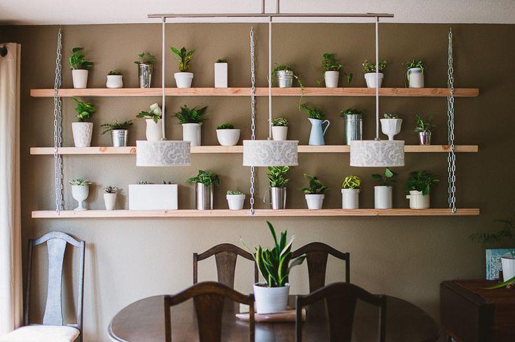 Diy plant shelves Etagere suspendue