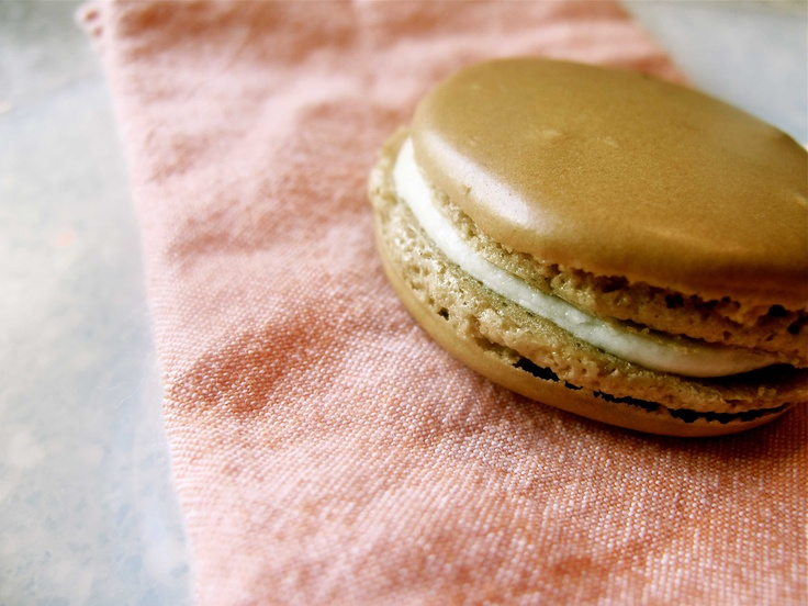 my first attempt at making french macarons... coffee&cream flavor