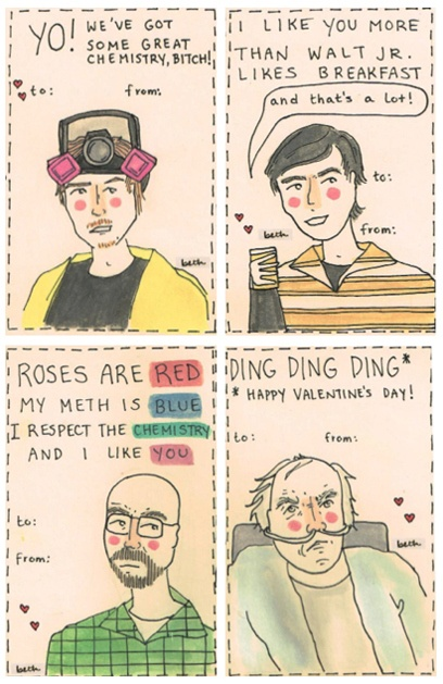 breaking bad valentines day ecards