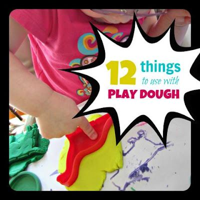 #Sensory Saturday #Things to do with #Play Dough #Preschool Ideas