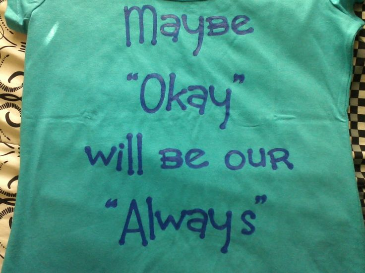 the fault in our stars quote shirt quotmaybe okay will be our