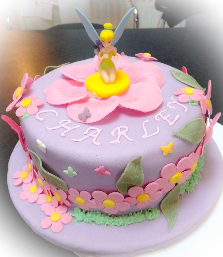 Tinkerbell birthday cake  Colettes Cakes  Pinterest