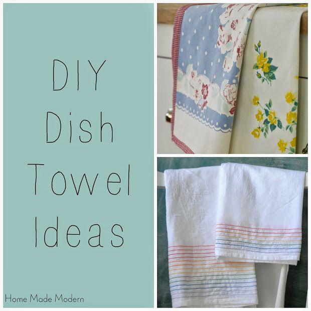 diy dish towel ideas crafts pinterest
