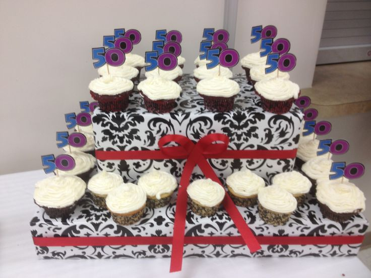 50th cupcakes for their 50th birthday! 50th Birthday ...
