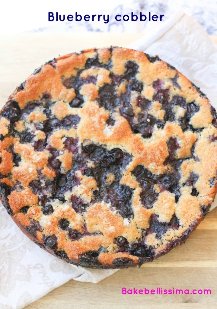 Blueberry cobbler by Bakebellissima,com Made this last night - super ...