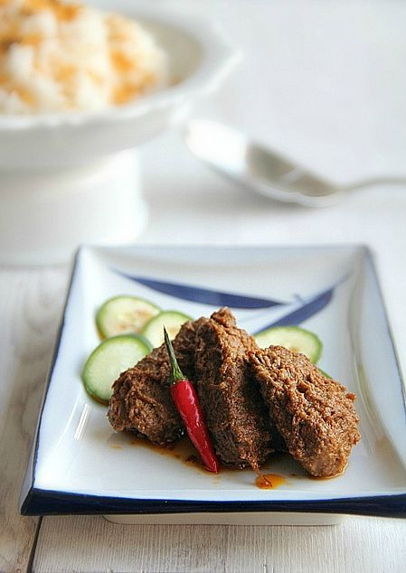 beef rendang - beef simmered lovingly in coconut milk, scented with ...