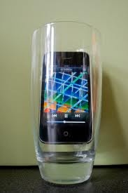 Use a Glass to Amplify Sound on your Ipod, Iphone, Blackberry, etc