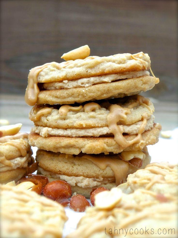 Triple Peanut Butter Sandwich Cookies | Baking | Pinterest