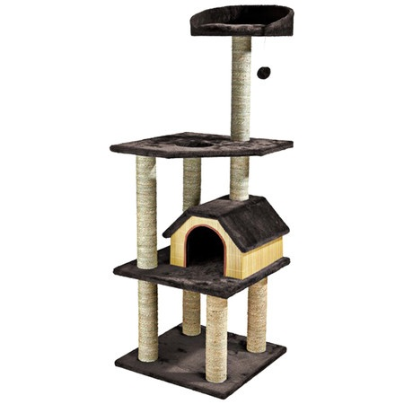 Bamboo cat tree with tiered perches.   Product: Cat treeConstruction Material: Bamboo and seagrassCol...