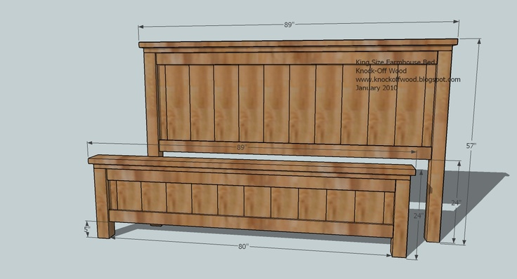 PLANS Farmhouse Bed King Must Try DIY