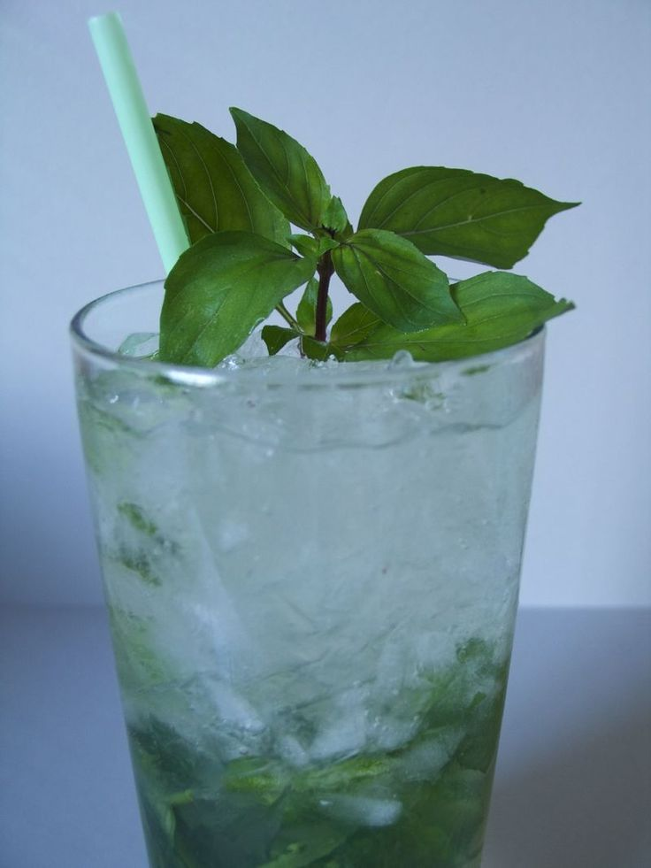 Basil Mojito. A great addition to this is muddled strawberries, but it ...
