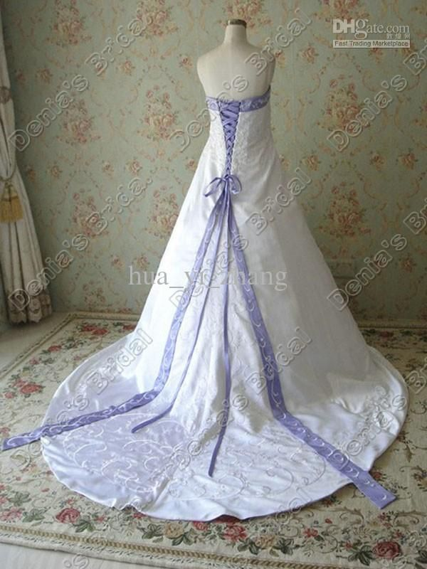 Pinterest discover and save creative ideas for Wedding dress with purple embroidery