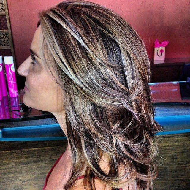 Multi Colored Highlights For Dark Brown Hair