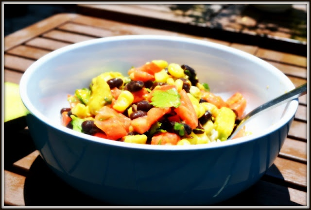 Black Bean, Corn and Avocado Salad | Inspired by... food | Pinterest