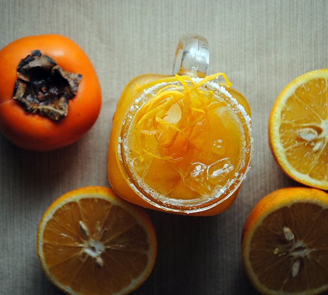 Use oranges and persimmons to make this margarita.