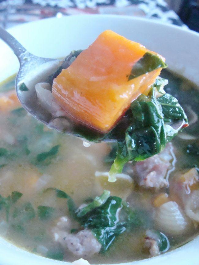 sweet potato and sausage soup. | Food | Pinterest
