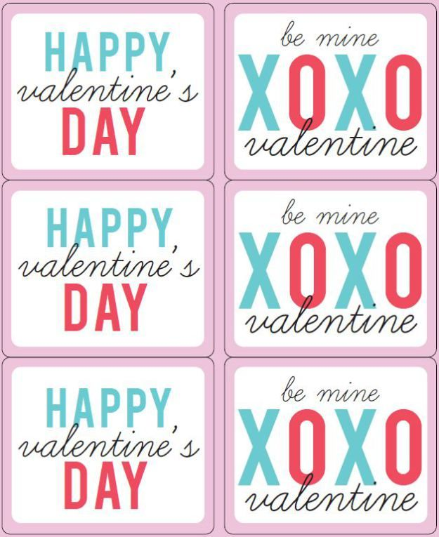 Happy Valentines Day Wine Labels | Valentine Printables | Pinterest