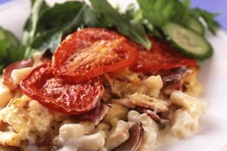 bacon and tomato macaroni cheese | Food | Pinterest