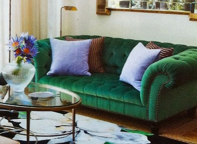 Emerald Green Sofa Decora O Na Cor Verde Pinterest