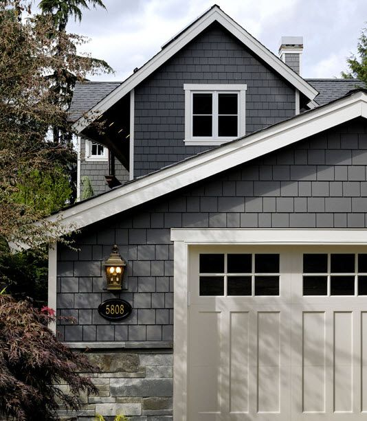 Cool Siding And Garage Door Exterior Redo Pinterest