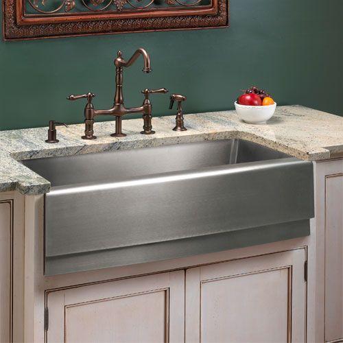 STAINLESS STEEL farmhouse sink! Kitchen Beautiful Pinterest
